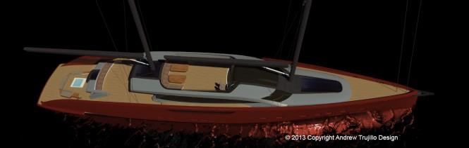 Serendipity yacht concept - upview