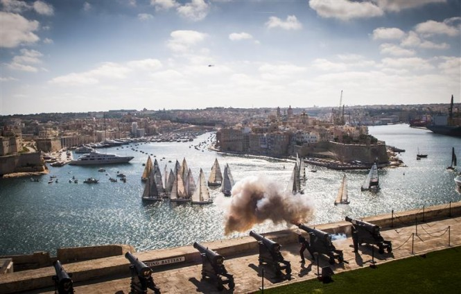 Start of the 33rd Rolex Middle Sea Race - Photo by Rolex Kurt Arrigo