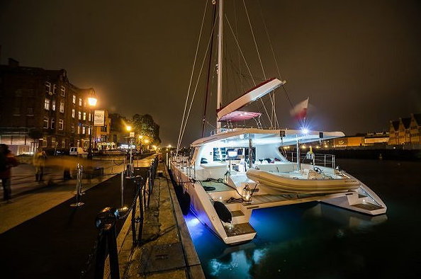 Sunreef 60 LOFT sailing yacht GRACE during her Grand Premiere