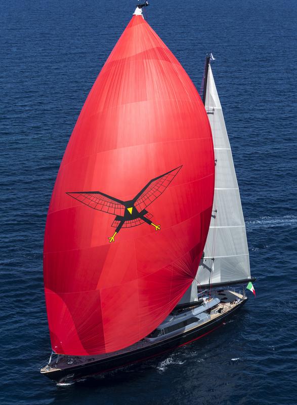Luxury yacht Seahawk under sail