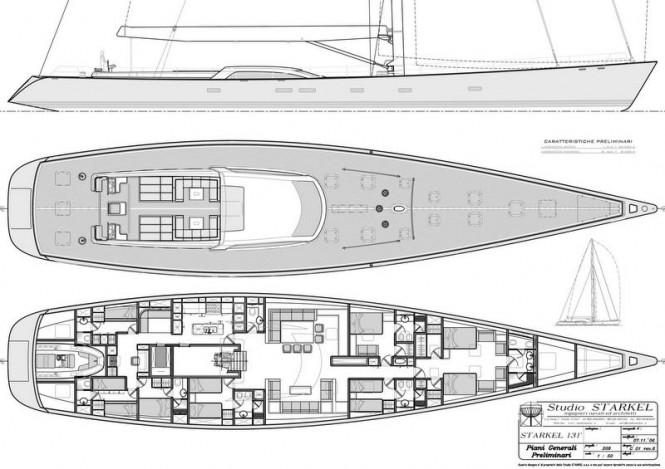 Starkel 131 Yacht Concept - General arragement