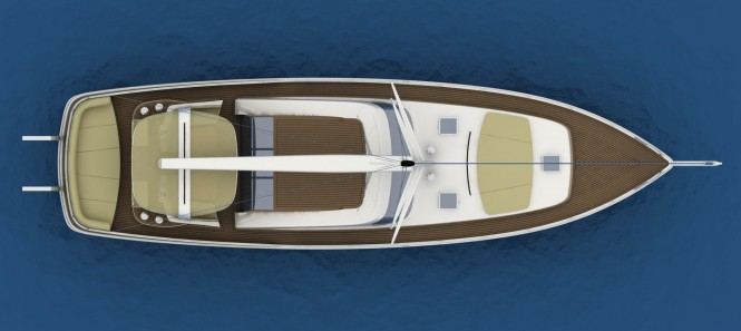 21m Fifth Ocean Sailor Gulet Concept from above
