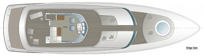 24m Yacht Fisherman Concept - GA - Bridge Deck