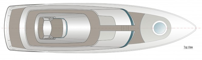 24m Yacht Fisherman Concept - GA - top view