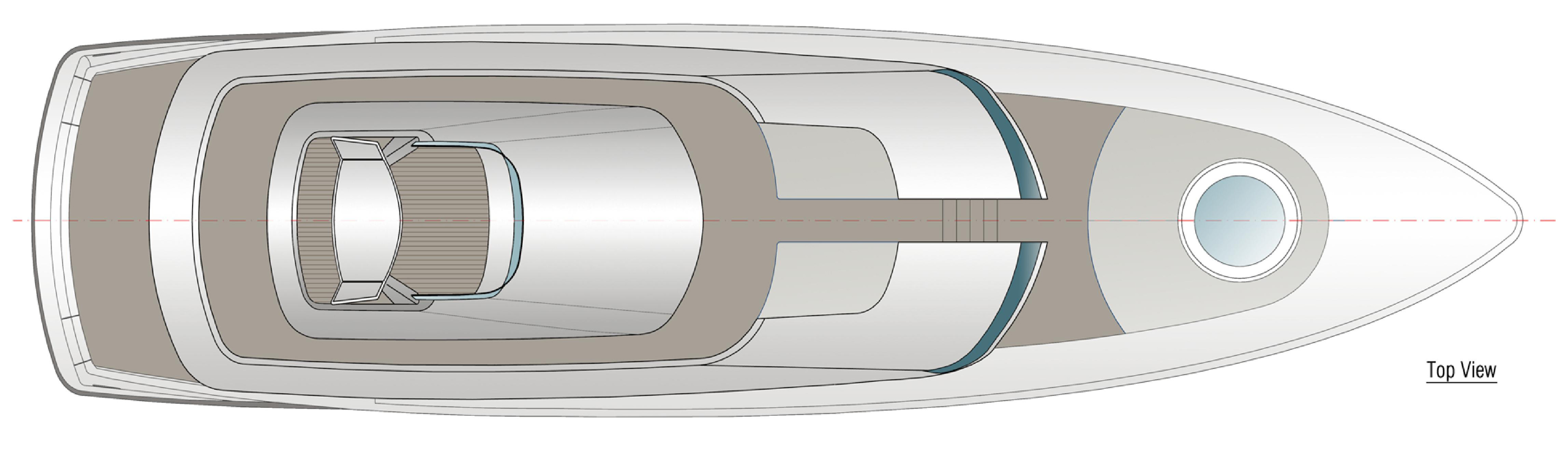 24m Yacht Fisherman Concept GA Top View