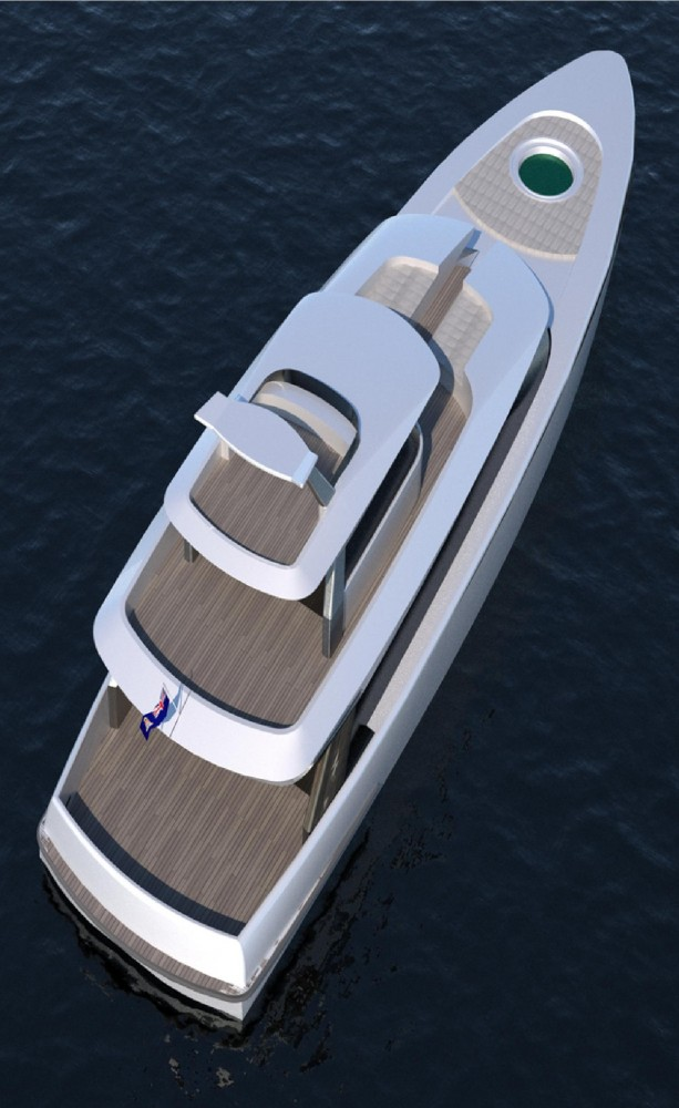 24m Yacht Fisherman Concept from above