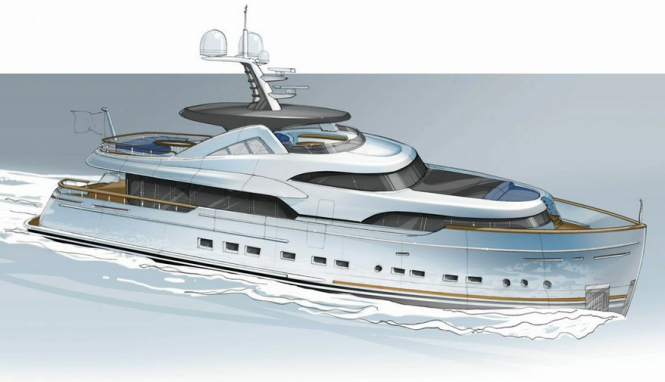 34m Mulder superyacht with naval architecture by Van Oossanen NA