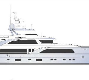 42m displacement motor yacht Design no. 162 by Fifth Ocean Yachts and Ginton NA