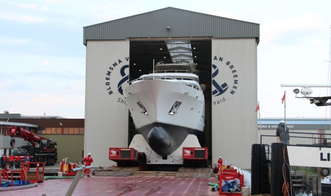 44m Bloemsma van Breemn superyacht BN141 at launch