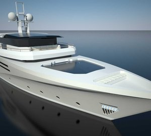 Renderings of 44m Diesel Electric Yacht Concept by Fifth Ocean Yachts and Studio Starkel