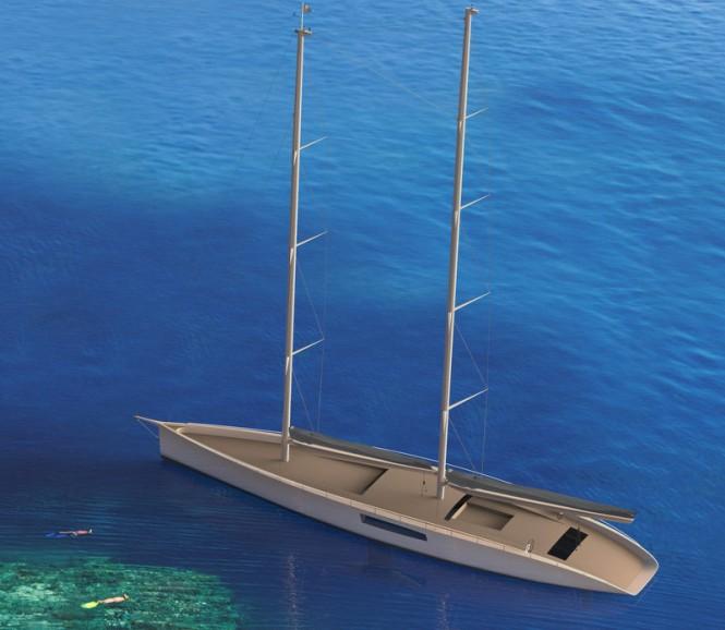 44m Persak & Wurmfeld yacht concept - upview