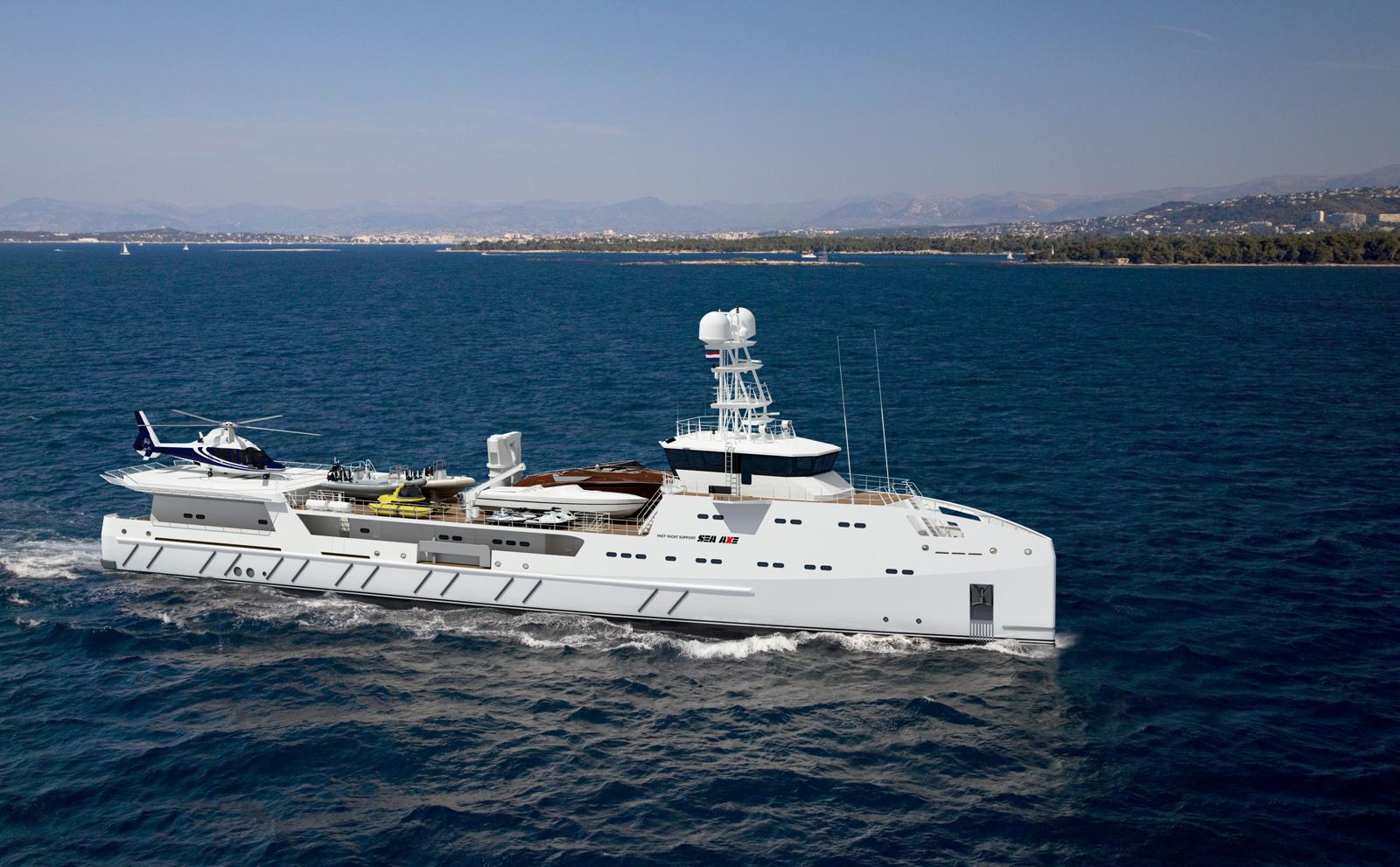 Luxury superyacht keyla interior by hot lab luxury yacht charter - 67m Damen Built Fast Yacht Support Vessel Gar On