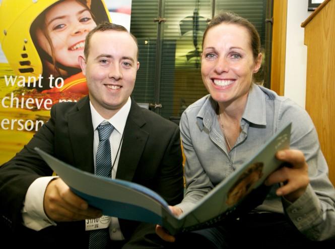 Brendan with London 2012 Paralympics gold medallist sailor Helena Lucas
