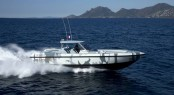 COUACH Hornet 1300 superyacht tender at full speed