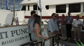 Christening of superyacht Ti Punch by Outer Reef Yachts at the 2013 FLIBS