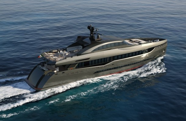 Columbus Sport Hybrid 40m Yacht equipped with CMC Marine's stabilizing system