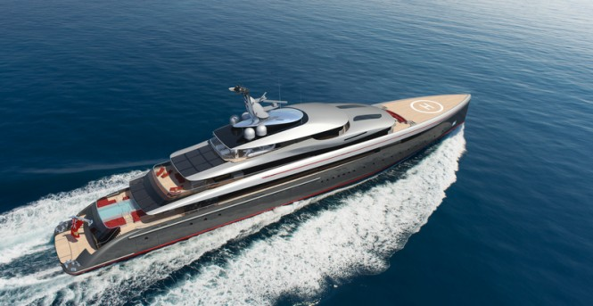 E-MOTION Yacht Concept from above