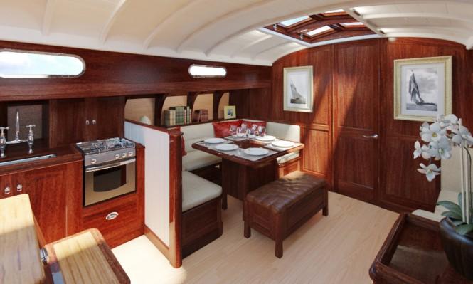 Fairlie 77 Yacht Design - Saloon