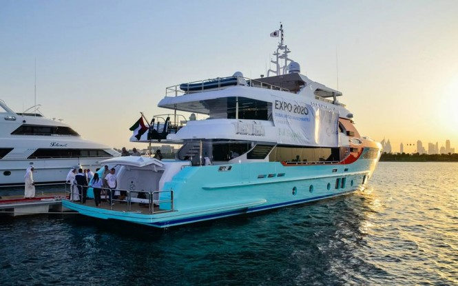 Gulf Craft superyacht Majesty 135 reception at the Dubai Creek