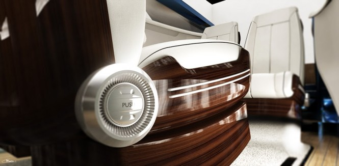 Interior of the Stefan Morno designed Rolls-Royce 450EX yacht tender project