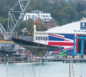 Classic sailing yacht K1 BRITANNIA ready for completion