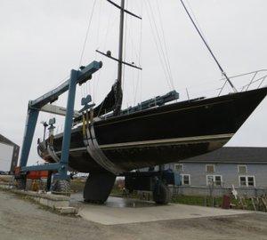 Lyman-Morse working on refit of sailing yacht Bristolian (ex Mari Cha II)