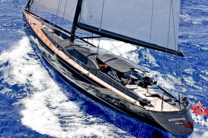 Luxury charter yacht Moonbird to feature a full set of new Stratis ICE sails
