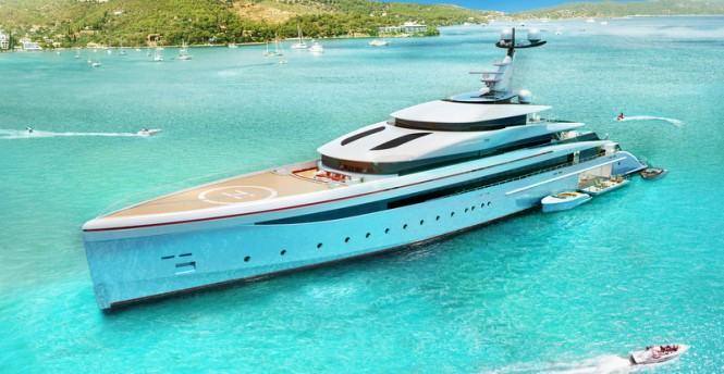 Luxury motor yacht E-MOTION design