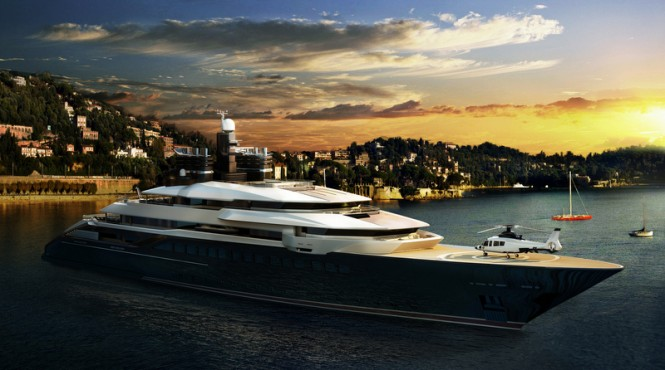 Luxury motor yacht RIALTO design