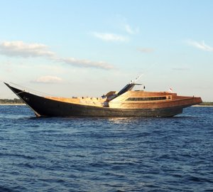 Trendy Phinisi Party Yacht DRAGOON 130 designed by Sergio Supino
