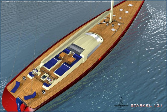 Luxury yacht Starkel 131 concept - upview