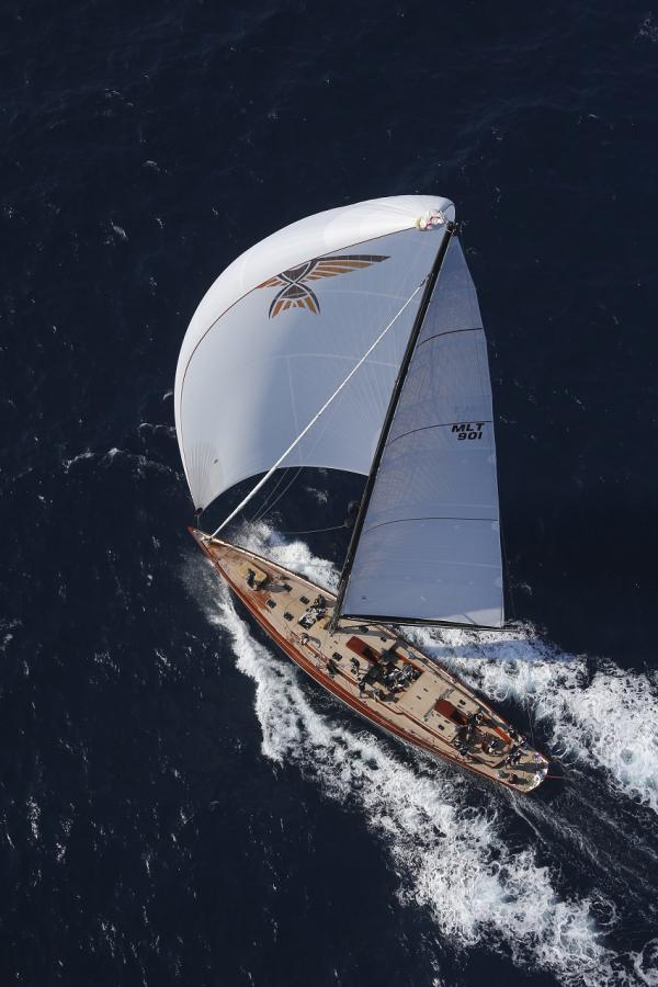 Majestic Tempus Fugit Yacht under sail
