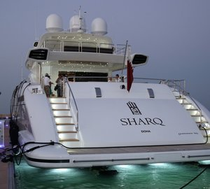 Mangusta 165 motor yacht SHARQ on display at QIBS 2013