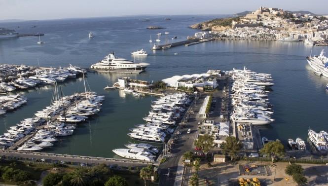 Marina Ibiza from above