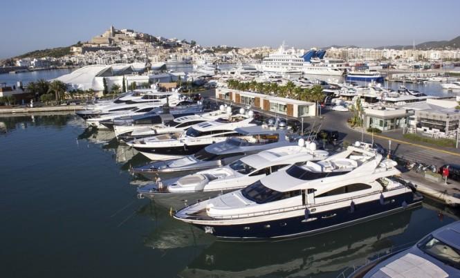 Marina Ibiza in the popular Spanish yacht charter destination - Ibiza