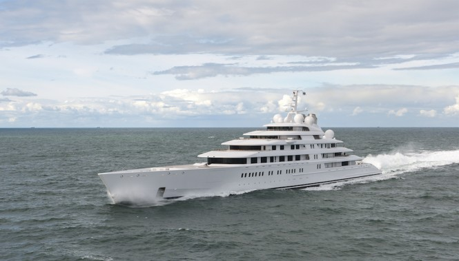 Mega Yacht Azzam - Photo by Klaus Jordan