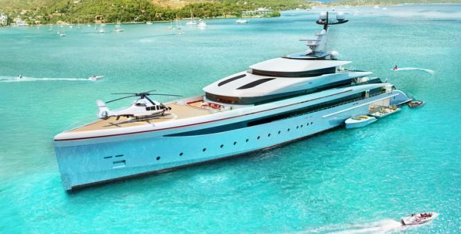 Mega yacht E-MOTION concept