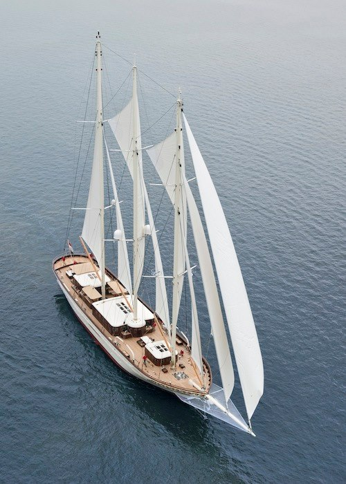 Mikhail S. Vorontsov Yacht from above