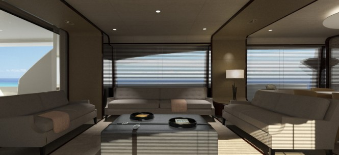 Motor yacht 95RPH - Saloon