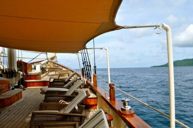 Mutiara Laut yacht - onboard