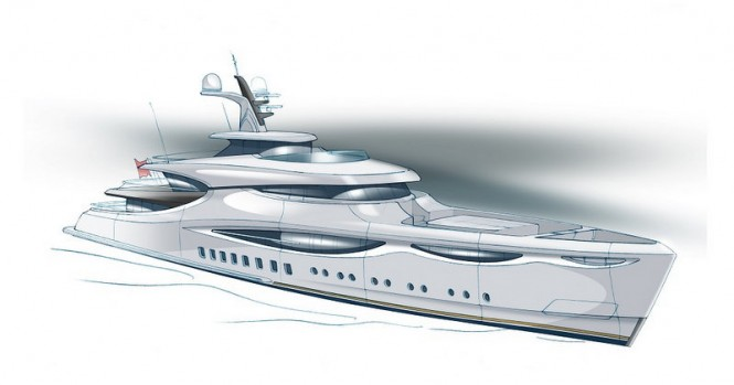 New 59m superyacht Meteora concept by Claydon Reeves