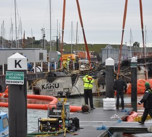 Cowes Harbour Commission announces completion of salvage operation of motor yacht KAHU