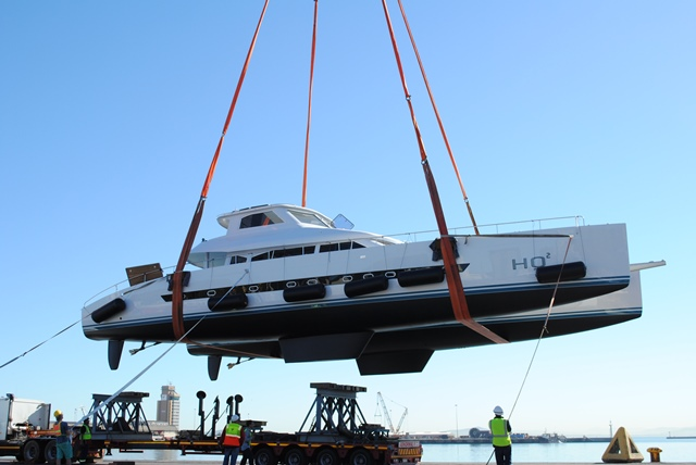 Open Ocean 750 Sailing Catamaran HQ2 at launch