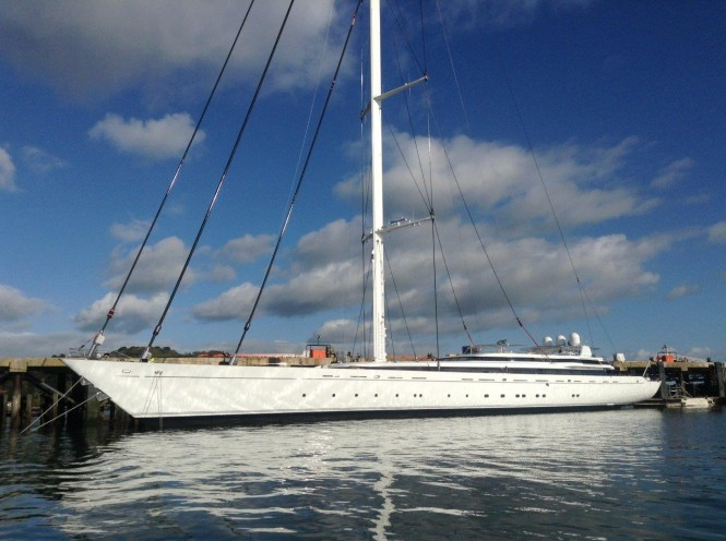 Pendennis-refitted superyacht M5 originally designed by Ron Holland afloat