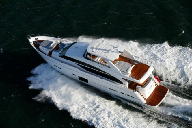 Princess 88 Yacht - aft view