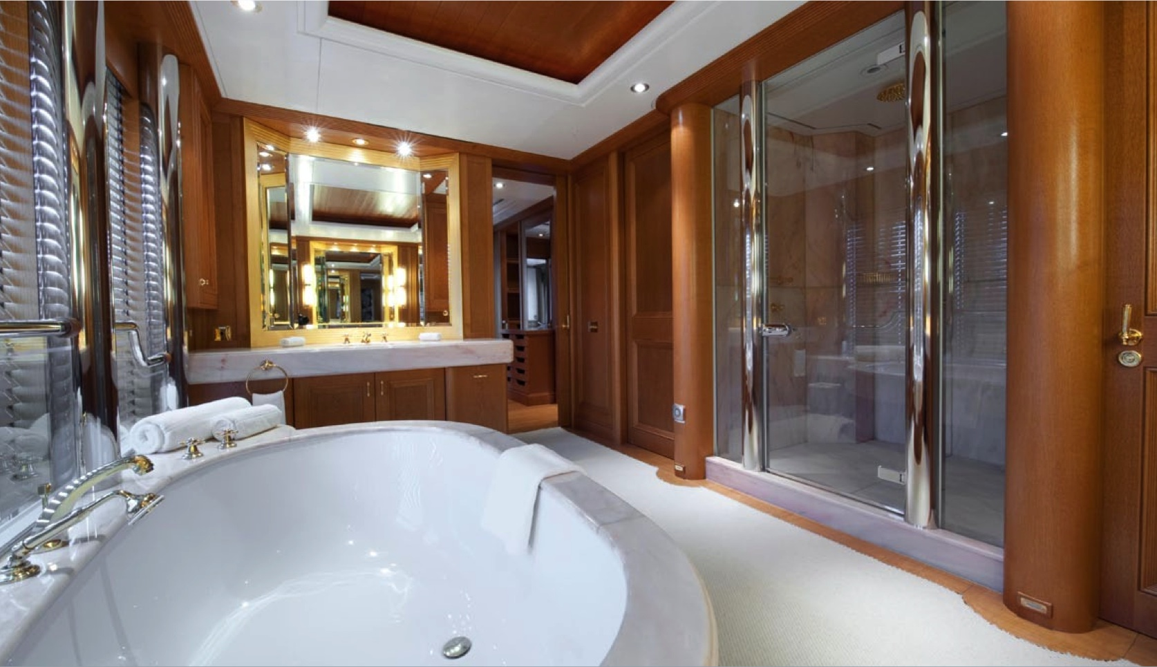 Project REBORN Yacht Bathroom Luxury Yacht Charter Superyacht