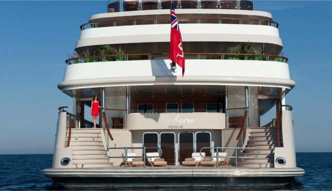 Project REBORN superyacht - Stern