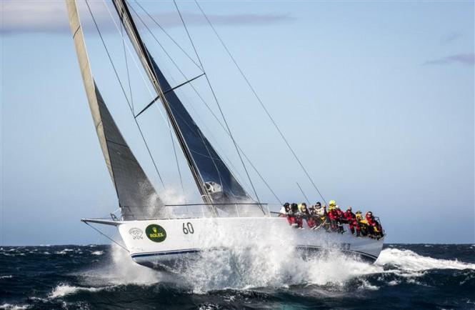 Sailing yacht Loki encounters big sea approaching Tasman Island - Photo by Rolex Daniel Forster