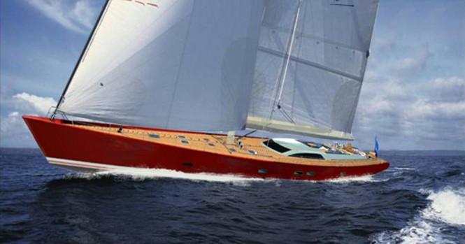 Starkel 131 Yacht Concept under sail