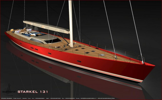 Starkel 131 superyacht concept by Fifth Ocean Yachts and Starkel Studio